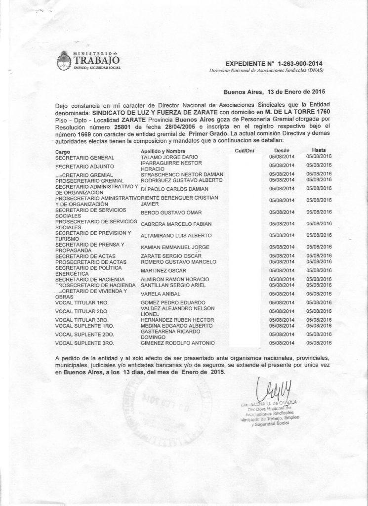 Certificacion Autoridades Año 2014 2016