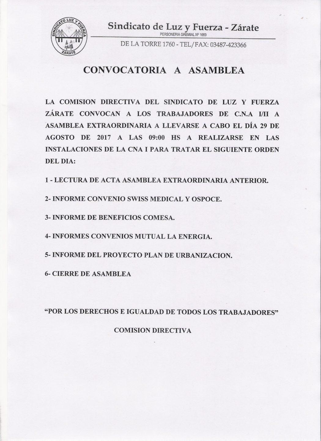 Comunicado Asamblea Atucha 29 08 2017