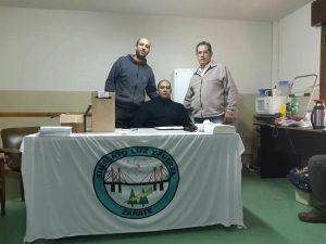 Miguel Varisco (Der) Funcionario del Ministerio de Trabajo de la Nación